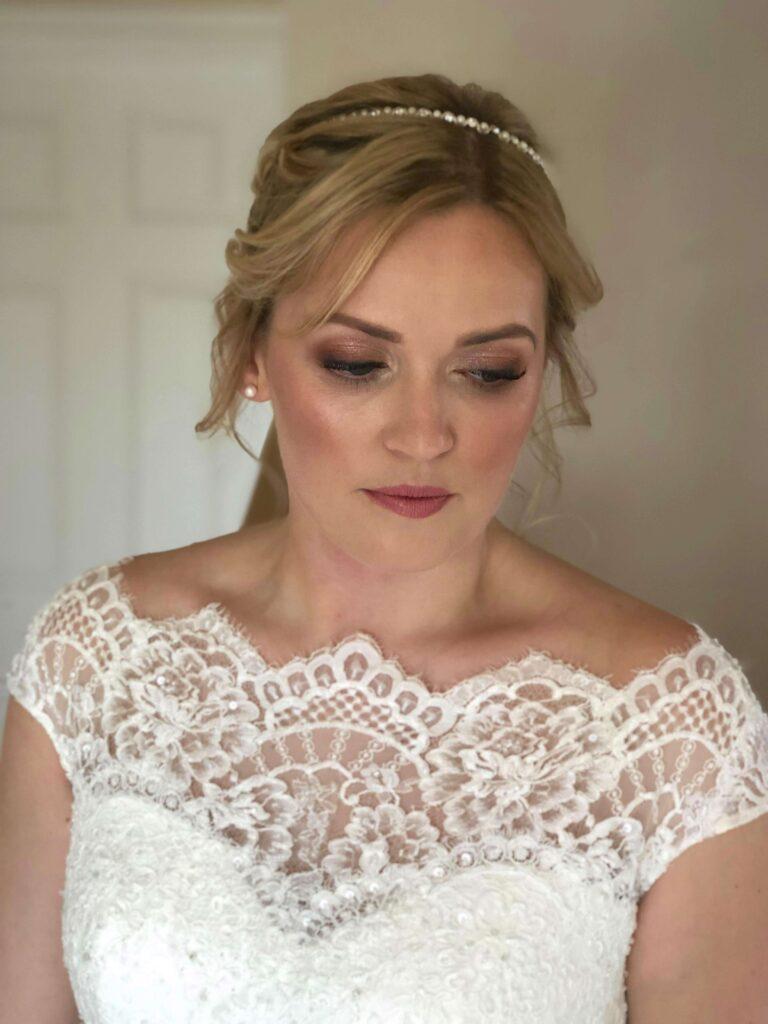 Bronzy tradtional wedding makeup
