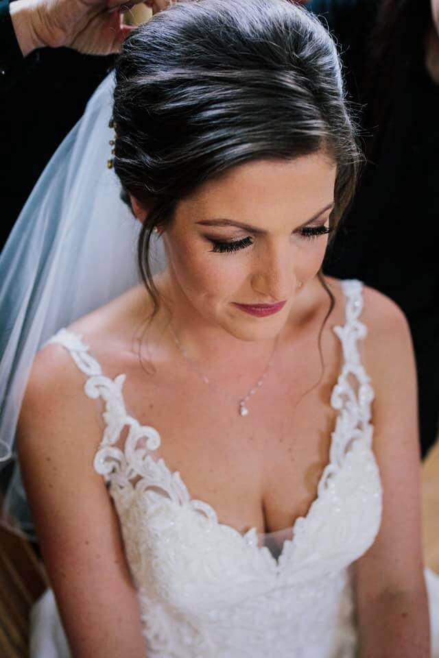 Traditional bridal makeup Scarborough