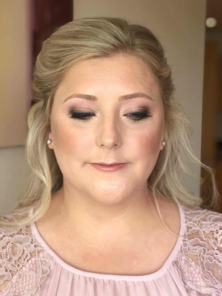 Soft glam wedding makeup North Yorkshire