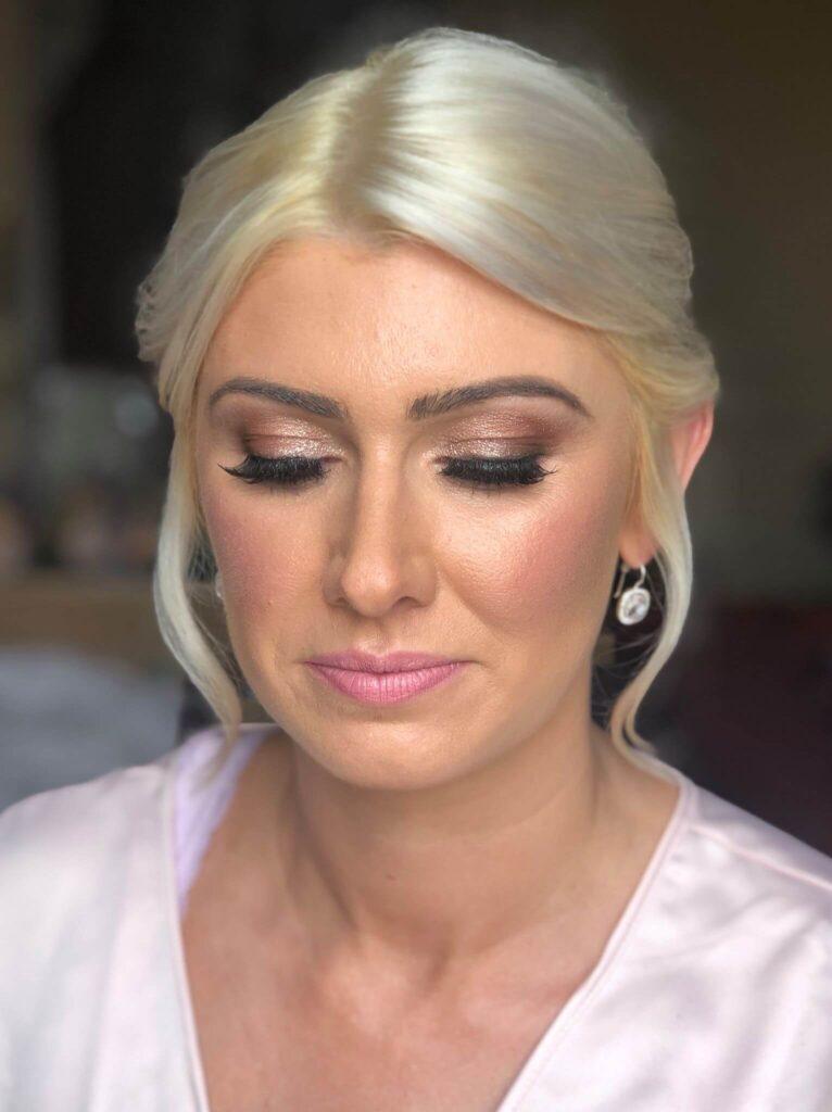 Glam wedding makeup North Yorkshire