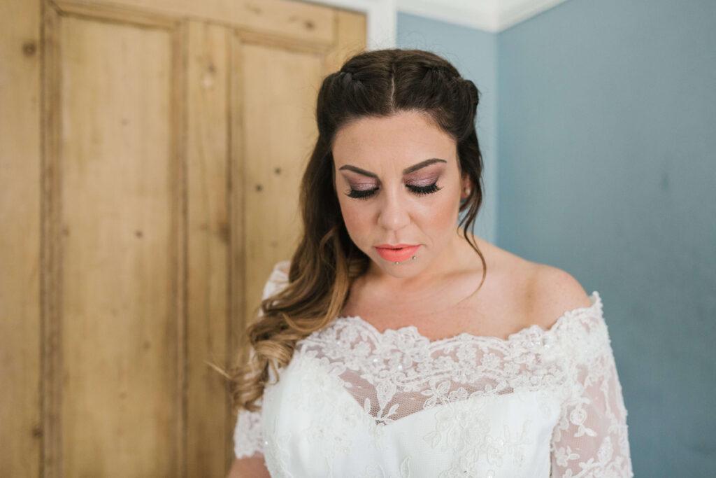 Boho natural wedding makeup North Yorkshire