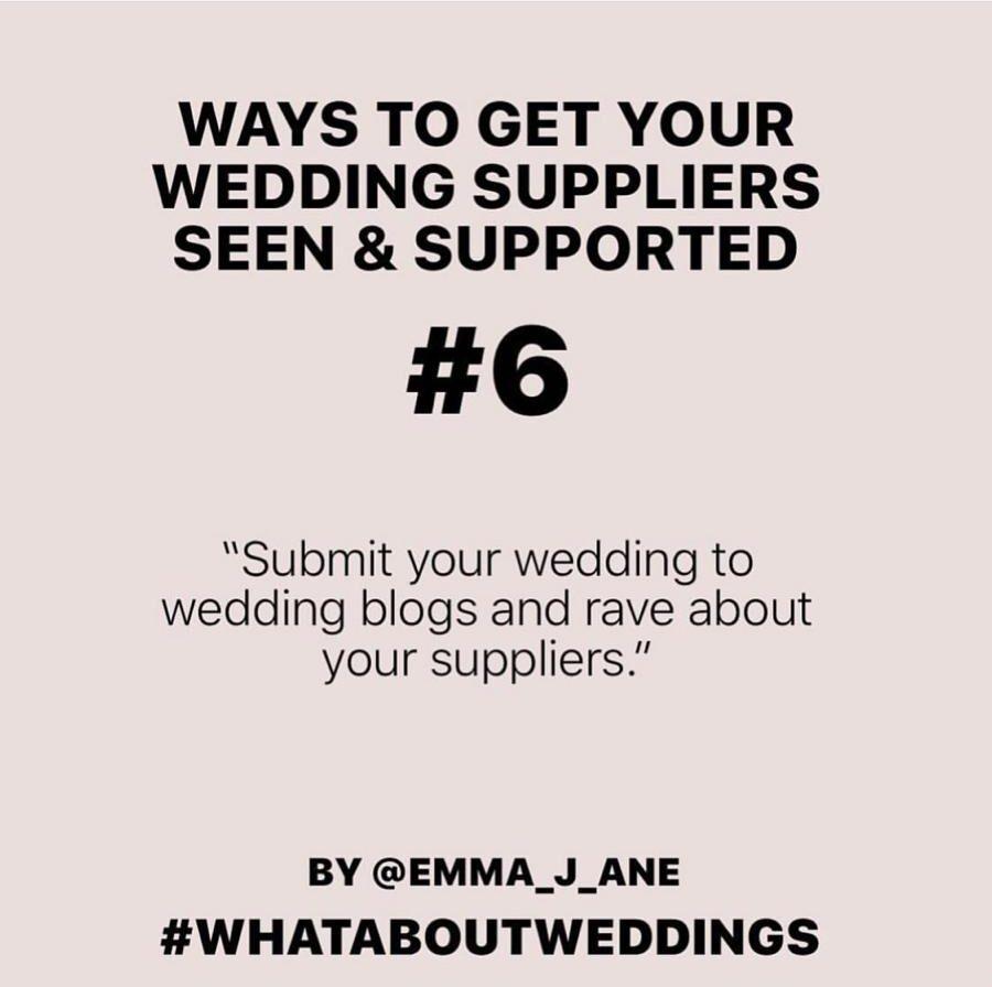 #whataboutweddings